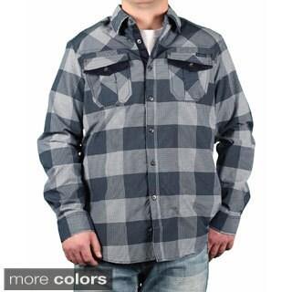 MO7 Men's Plaid Button-down Shirt