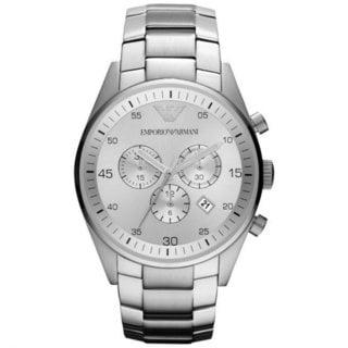 Armani Men's AR5963 Sportivo Silvertone Bracelet Watch