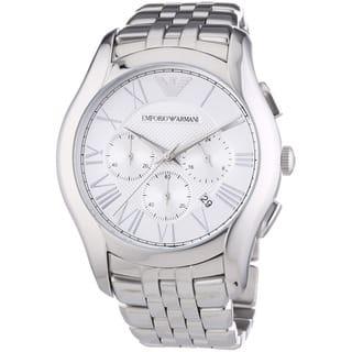 Emporio Armani Men's AR1702 Valente Chronograph Stainless Steel Watch|https://ak1.ostkcdn.com/images/products/9103073/Armani-Mens-AR1702-Valente-Chronograph-Stainless-Steel-Watch-P16290298.jpg?impolicy=medium