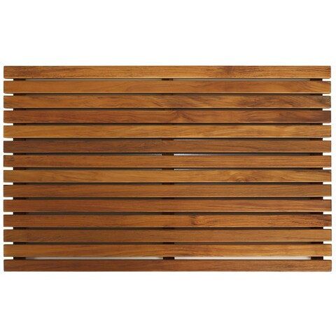 Bare Decor Zen Large Oiled Solid Teak Shower Mat
