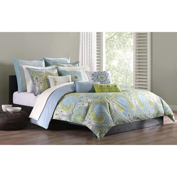 Echo Design Sardinia Green/ Blue Cotton Duvet Cover Mini Set