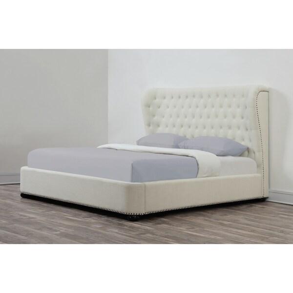 Finley Beige Linen Bed