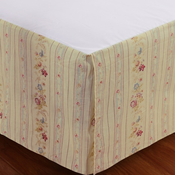 Shop Greenland Home Fashions Antique Rose Cotton 15 Inch Drop Bedskirt Free Shipping On Orders