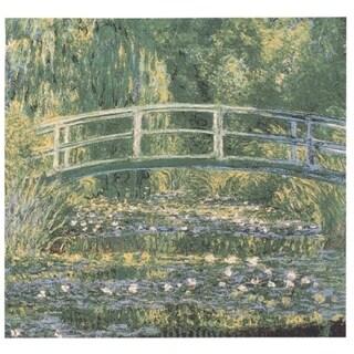 Monet Japanese Bridge at Giverny Wall Tapestry