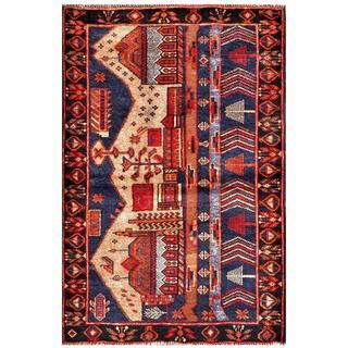 Handmade One-of-a-Kind Balouchi Wool Rug (Afghanistan) - 2'11 x 4'4