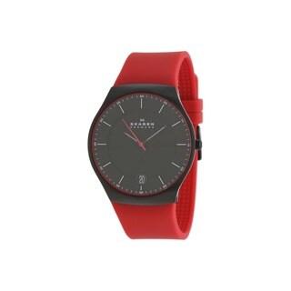 Skagen Men's Balder SKW6073 Red Rubber Quartz Watch