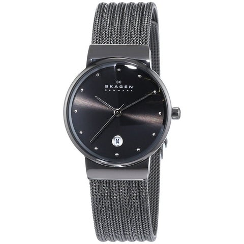 Skagen Women's Grey Mesh Stainless Steel Watch