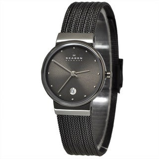 Skagen Women's 355SMM1 Grey Mesh Stainless Steel Watch