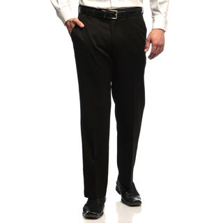 Dockers Men's Black Herringbone Flat-front Suit Separates Pants