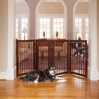 Primetime Petz 360 36-inch Configurable Wooden Pet Gate - Free ...