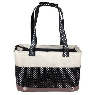 Pet Life Polka-dot Fashion Tote Pet Carrier