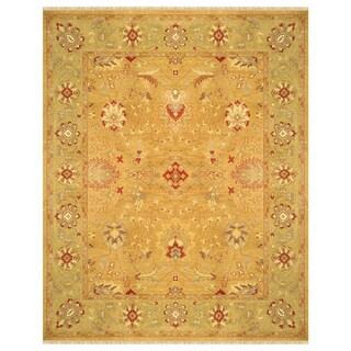 Grand Bazaar Hand-woven Wool Pile Silvia Rug in Copper/ Sage (9'6 x 13'6)