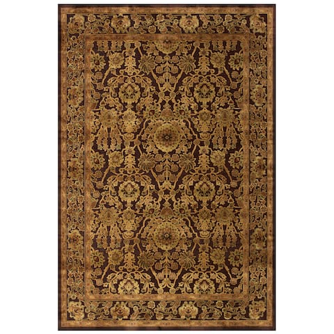 "Grand Bazaar Power Loomed Viscose Soho Rug in Dark Chocolate 9'-8"" X 12'-7"" - 9'8"" x 12'7"""