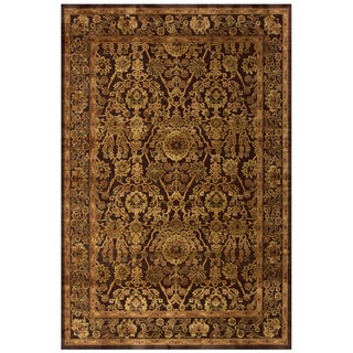 "Grand Bazaar Power Loomed Viscose Soho Rug in Dark Chocolate 9'-8"" X 12'-7"""