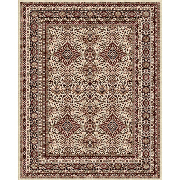 Grand Bazaar Delia Area Rug in Cream/ Navy - 9'1 x 13'2