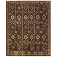Grand Bazaar Hand-knotted Wool Pile Isabella Rug in Brown - 7'9 x 9'9
