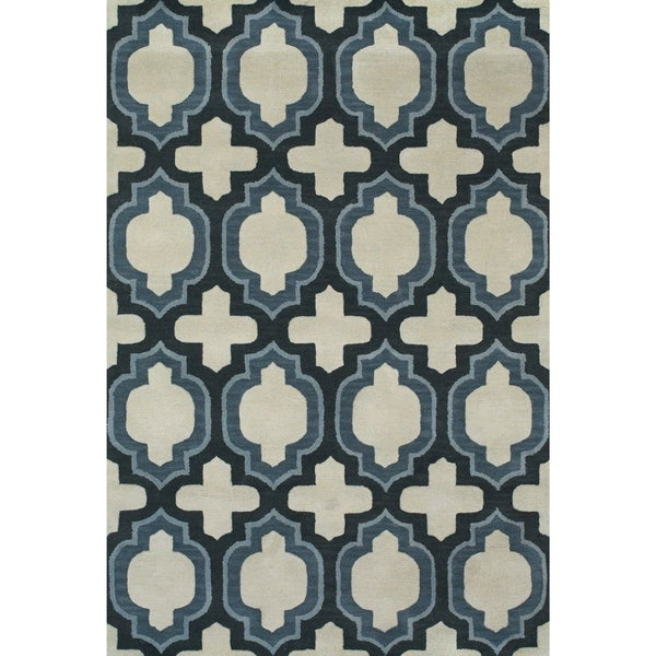 Grand Bazaar Burdett Blue Area Rug - 8' x 11'