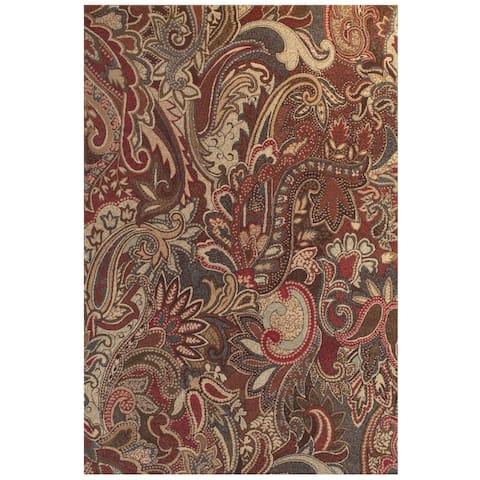 Grand Bazaar Atwood Crimson/ Multi Area Rug (8' x 11') - 8' x 11'