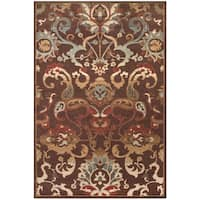 Grand Bazaar Atwood 568R-3235 Chocolate Area Rug (8' x 11') - 8' x 11'