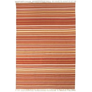 Grand Bazaar Hand Woven Polyester Salta Rug in Sunset 8' X 11'