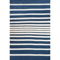 Grand Bazaar Hand Woven Polyester Salta Area Rug in Cobalt/ White (8' x 11')