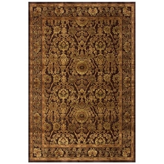"Grand Bazaar Power Loomed Viscose Soho Rug in Dark Chocolate 7'-6"" X 10'-6"""