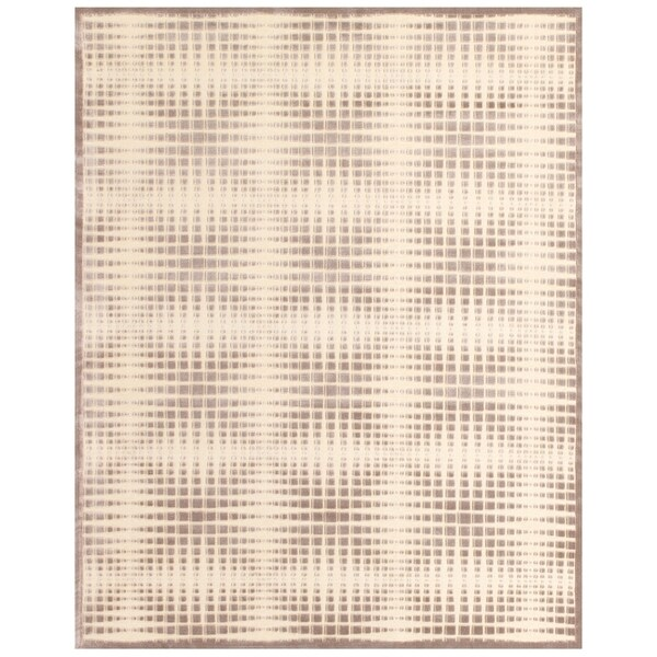 "Grand Bazaar Power Loomed Viscose Penelope Rug in Cream/Gray 7'-6"" X 10'-6"" - 7'6"" x 10'6"""
