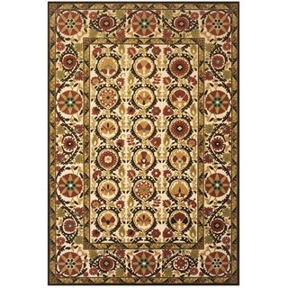 "Grand Bazaar Power Loomed Polypropylene Uttur Rug in Sand / Light Gold 7'-6"" X 10'-6"" - 7'6"" x 10'6"""