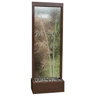 6-foot Dark Copper Gardenfall with Bamboo Etched Clear Glass