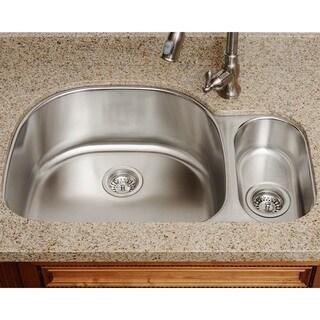 The Polaris Sinks PL123-16-gauge Kitchen Ensemble - Silver