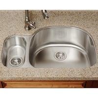 The Polaris Sinks PR123-16-gauge Kitchen Ensemble - Silver