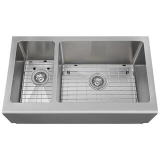 The Polaris Sinks PR704 16-gauge Kitchen Ensemble - Silver