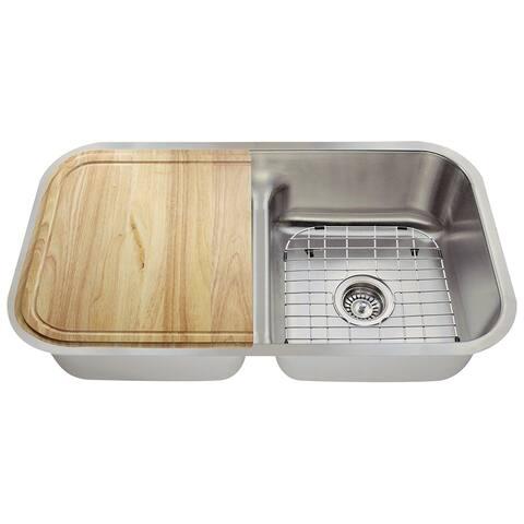 The Polaris Sinks P215 16-gauge Kitchen Ensemble - Stainless Steel