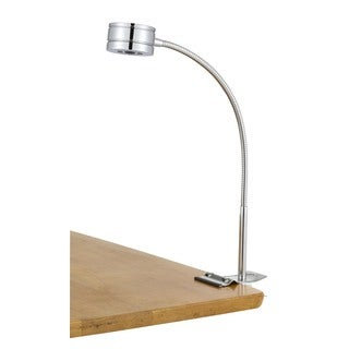 Cal Lighting Goosneck Clip On Desk Lamp, Chrome