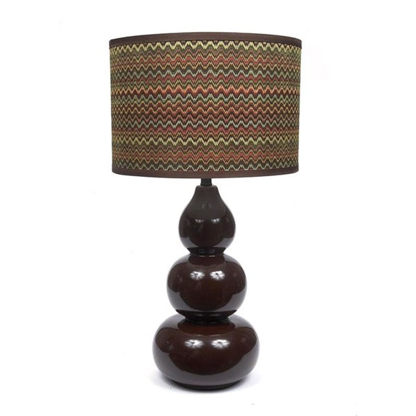 Fangio Lighting 29-inch Ceramic Table Lamp with Designer Whimsical Wave Shade