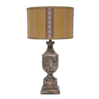 Fangio Lighting's 31-inch Ceramic Table Lamp with Native American Inspired Designer Shade