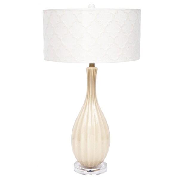 Fangio Lighting 29-inch Ceramic Table Lamp with Designer Shade