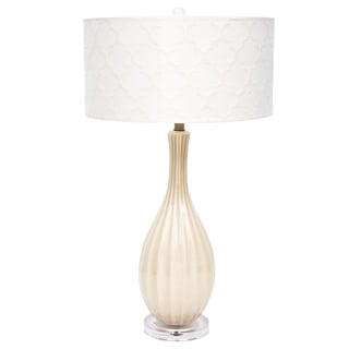 Fangio Lighting 29-inch Ceramic Table Lamp with Designer Shade