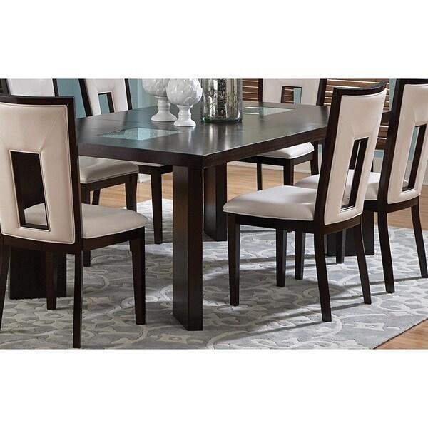 greyson living domino 6 5 foot espresso dining table
