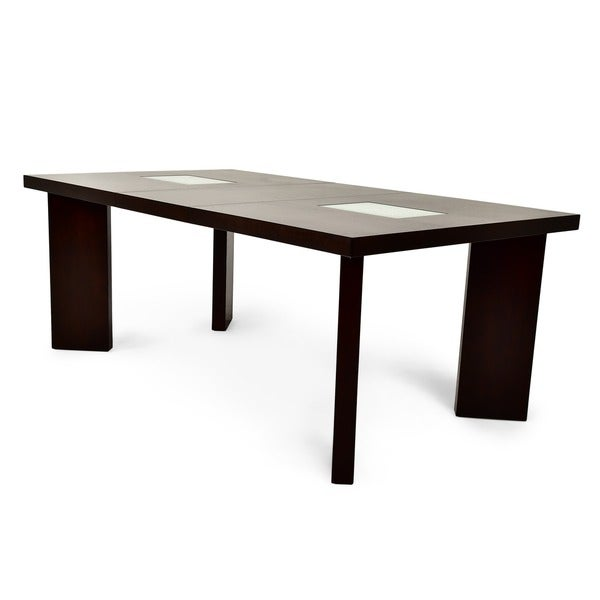 Greyson living domino 6 5 foot espresso dining table for Greyson dining table