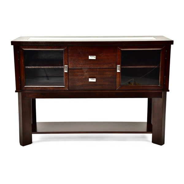 Strick & Bolton Stoddart Espresso-finished Wood Buffet Table