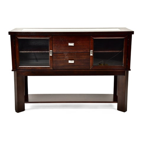 Greyson Living Domino Espresso Wood Buffet Table