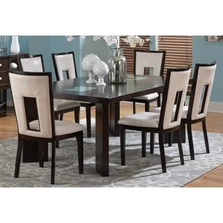 glass dining room table set. Domino Medium Espresso Dining Set by Greyson Living Glass Room Sets For Less  Overstock com