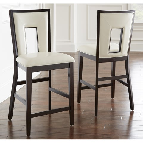 Oliver & James Ettinger Cream Counter-height Chair (Set of 2)
