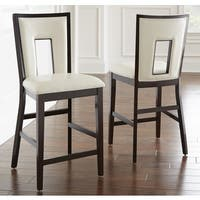 Oliver & James Ettinger Cream Counter-height Chair (Set of 2) - 42 inches high x 19 inches wide x 22 inches deep