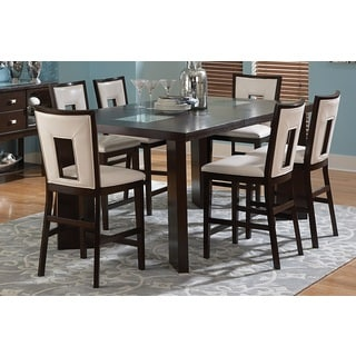 Greyson Living Domino Counter-height Espresso Dining Set