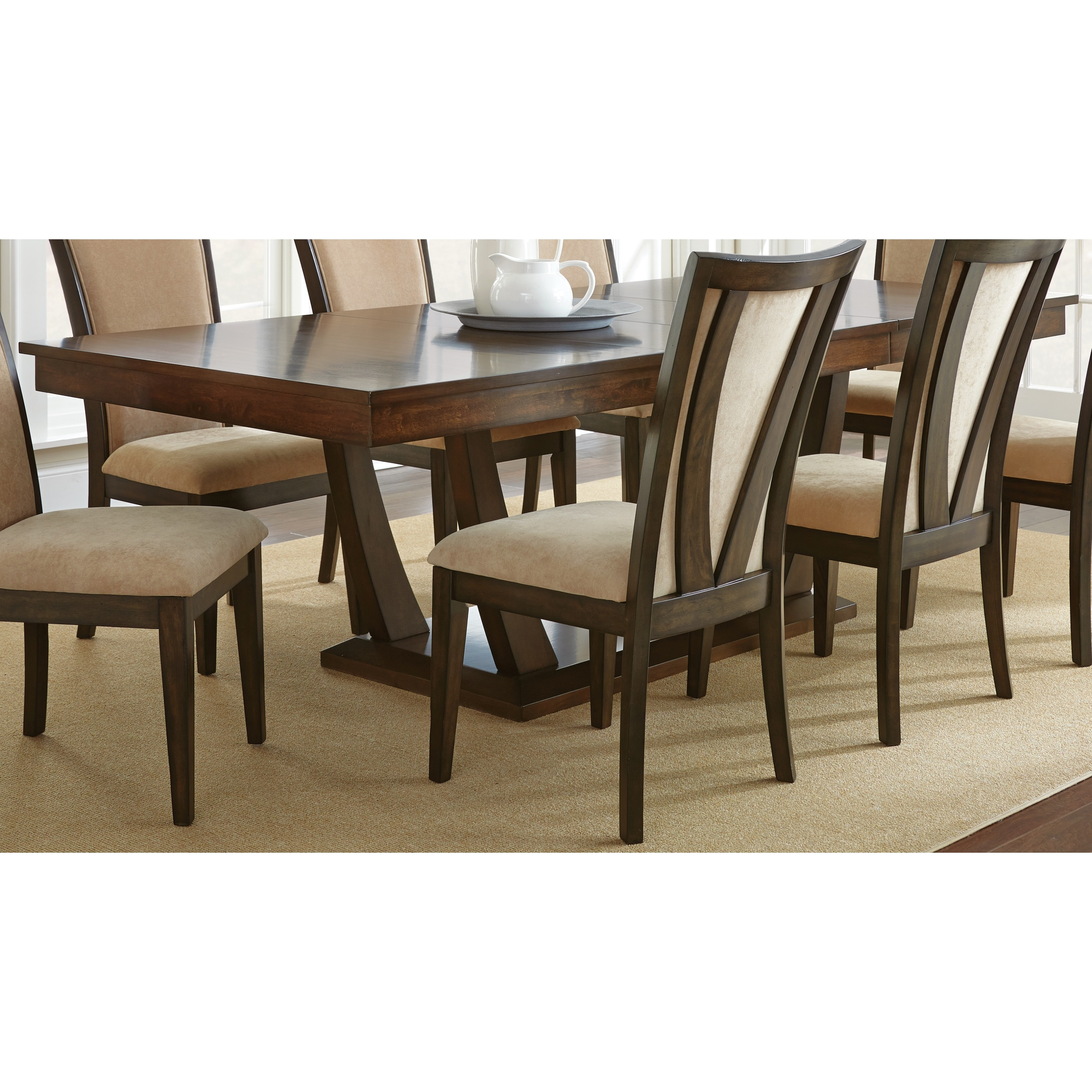 Gillian 8 Foot Pedestal Dining Table