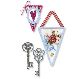 Sizzix Sizzlits Banners & Keys Die Set by Scrappy Cat (3 Pack)
