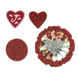 Sizzix Sizzlits Accordion Fold Flowers #2 Die Set by Scrappy Cat (3 Pack)