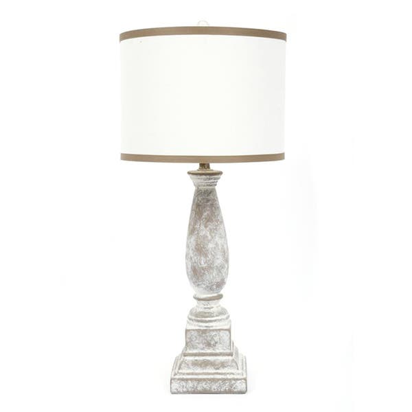 Fangio Lighting 31 Inch Ceramic Table Lamp With Designer Shade Overstock 9103733